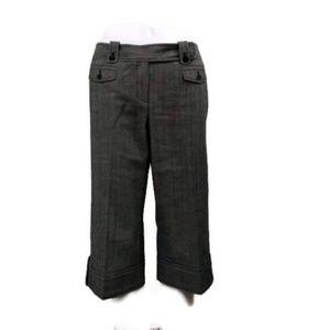 Ann Taylor Petites Size 10 Petite Black Gray Capri